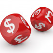 Currency Dice — Stock Photo