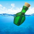 Stock Photo: Message in bottle