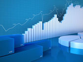 Statistics charts — Stock Photo