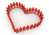 Heart shape formed by fancy characters — Stock Photo
