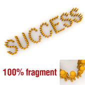 SUCCESS word mounted by tiny characters — Stock Photo