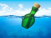 Message in a bottle — Stock Photo