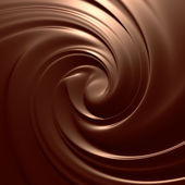 Astonishing chocolate swirl top view. — Stock Photo