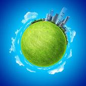 зеленая планета пустой шаблон. — Стоковое фото