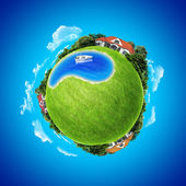 Mini planet concept. — Stock Photo