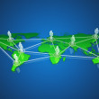 Stock Photo: Worldwide social network concept