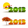New Year 2013 calendar background set. — Stock Photo #31421905