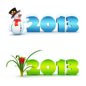 New Year 2013 calendar background set. — Stock Photo
