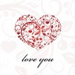 Valentine card heart ornament. — Stock Vector #31422815