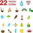 22 vector icons set. — Stock Vector