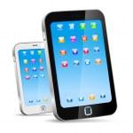 Touchscreen smartphone concept. Vector. Editable - Just place yo — Stock Vector