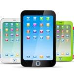 Smartphones on white background. — Stock Vector