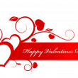 Valentine card heart ornament. — Stockvectorbeeld