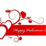 Valentine karty srdce ornament — Stock vektor