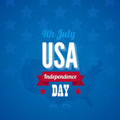 USA Independence day poster vector design template. 4th of July — Stock Vector