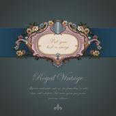 Diseño vintage de la tarjeta de regalo. — Vector de stock