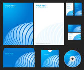 Vector blue company identity template. — Stock Vector