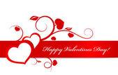 バレンタイン カード ハートの飾り. — ストックベクタ