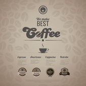 Coffee menu poster vector design template in retro style. — Stock Vector
