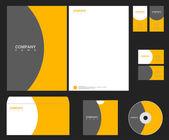 Identidad vector naranja-gris — Vector de stock