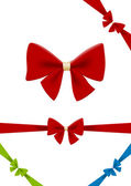 Bow red vector design element. Use for gift, Christmas, Sale — Vettoriale Stock