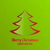 Merry Christmas New Year greeting card vector design. — Stock Vector