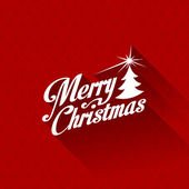 Merry Christmas greeting card vector design template. — Stock Vector