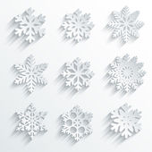 Snowflakes shape vector icon set. — Stock Vector