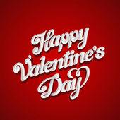 Happy valentinstag vektor schriftzug grußkarte entwurfsvorlage. kreative valentinstag urlaub handschriftliche 3d typografie. — Stockvektor
