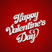 Happy Valentines Day Vector design lettering greeting card template. Creative Valentine Holiday Handwritten 3D Typography. — Stock Vector