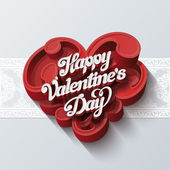 Valentines day greeting card vector design template — Vettoriale Stock