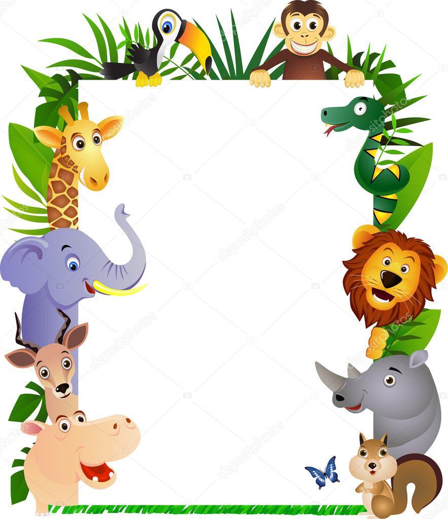 可爱的动物卡通框架