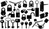 Locks and keys — Stock Vector