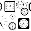 Stock Vector: Clocks