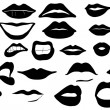 Lips set — Stock Vector #15443913