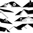 Roofs isolated — Imagen vectorial
