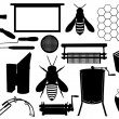 Stock Vector: Beekeeping