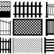 Fence set — Stock Vector