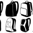 Backpacks — Stockvectorbeeld