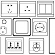 Switches and sockets — Stock Vector