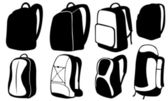 Backpacks — Stockvektor