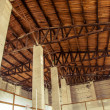 Wooden barn roof — Stock Photo