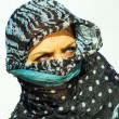 Muslim girl wearing higab - Stock Photo
