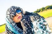 Muslim girl wearing higab — Stock Photo