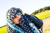 Muslimská dívka, která nosí higab — Stock fotografie