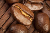 Coffee beans close up — Photo