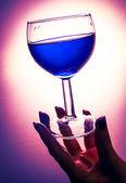 Poisoned glass of wine — Stock Photo