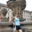 Tourist in Prague City — Stock Photo