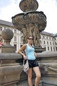 Tourist in Prague City — Stock Photo