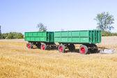 Combine harvesting corn — Stock Photo
